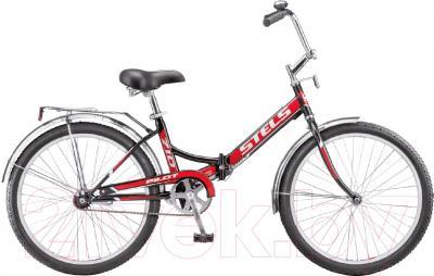 Велосипед Stels Pilot 710 2016 (черный/красный)