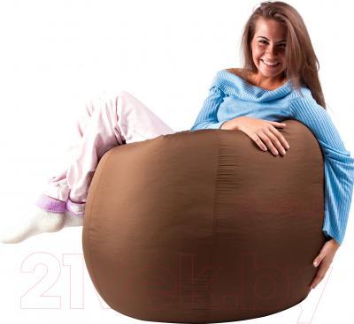 Бескаркасное кресло Meshok.by Дьюспо Коричневый (classic balls, L)