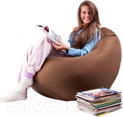 Бескаркасное кресло Meshok.by Дьюспо Коричневый (smart balls, S)