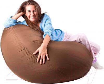 Бескаркасное кресло Meshok.by Дьюспо Коричневый (smart balls, L)