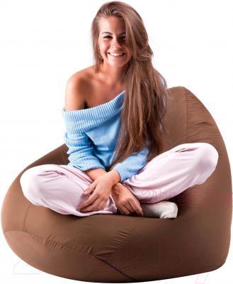 Бескаркасное кресло Meshok.by Дьюспо Коричневый (smart balls, XL)