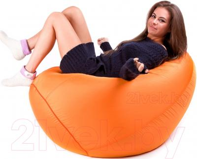 Бескаркасное кресло Meshok.by Дьюспо Оранжевый (classic balls, M)