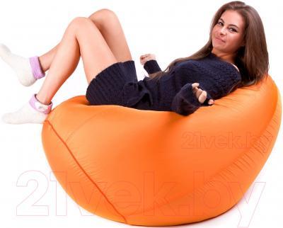 Бескаркасное кресло Meshok.by Дьюспо Оранжевый (classic balls, L)