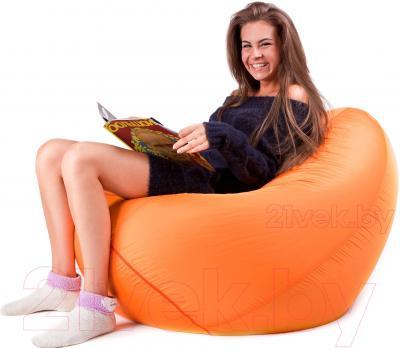 Бескаркасное кресло Meshok.by Дьюспо Оранжевый (smart balls, M)