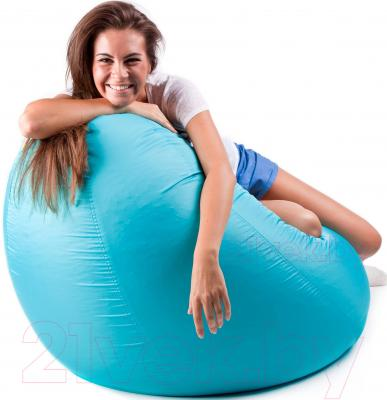 Бескаркасное кресло Meshok.by Дьюспо Бирюзовый (classic balls, L)