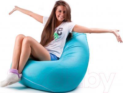 Бескаркасное кресло Meshok.by Дьюспо Бирюзовый (smart balls, L)