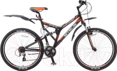 Велосипед Stels Challenger MD 2015 26 (темно-серый/темно-красный)