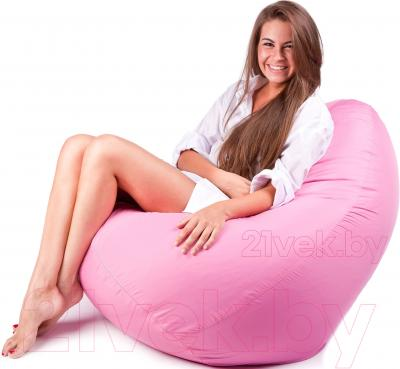 Бескаркасное кресло Meshok.by Дьюспо Розовый (smart balls, L)