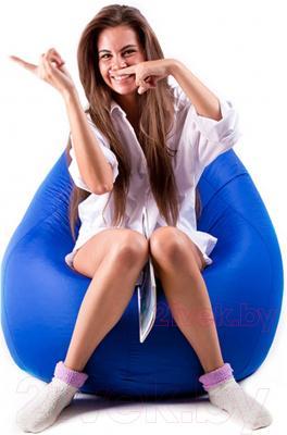 Бескаркасное кресло Meshok.by Дьюспо Синий (classic balls, L)