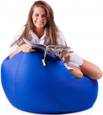Бескаркасное кресло Meshok.by Дьюспо Синий (smart balls, S)