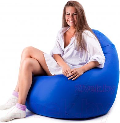 Бескаркасное кресло Meshok.by Дьюспо Синий (smart balls, L)