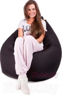 Бескаркасное кресло Meshok.by Дьюспо Черный (classic balls, M)