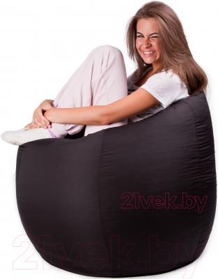 Бескаркасное кресло Meshok.by Дьюспо Черный (classic balls, L)