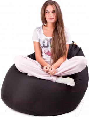 Бескаркасное кресло Meshok.by Дьюспо Черный (smart balls, L)