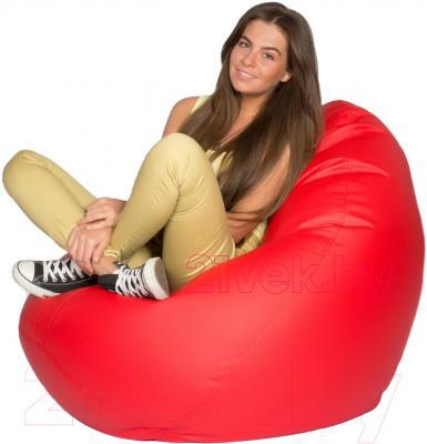 Бескаркасное кресло Meshok.by Мешок Красный матовый (classic balls, L)