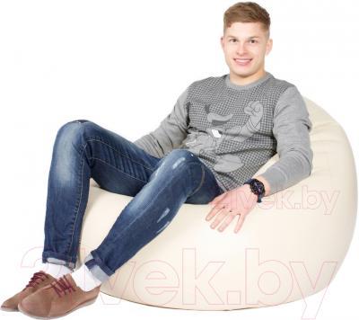 Бескаркасное кресло Meshok.by Мешок Бежевый (classic balls, L)