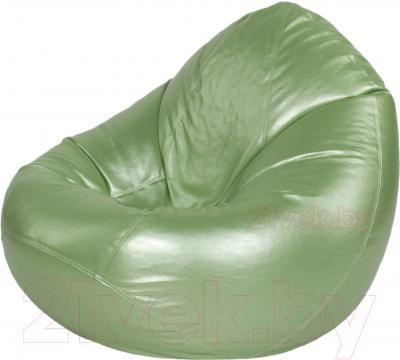Бескаркасное кресло Meshok.by Мешок Серебристо-зеленый (classic balls, M)