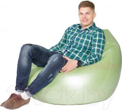 Бескаркасное кресло Meshok.by Мешок Серебристо-зеленый (smart balls, XL)