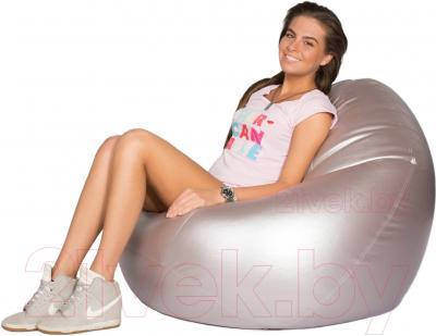 Бескаркасное кресло Meshok.by Мешок Серебристый (smart balls, L)