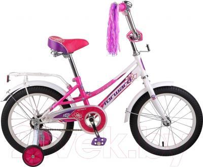 Детский велосипед Forward Little Lady 2015 (16, белый/розовый)