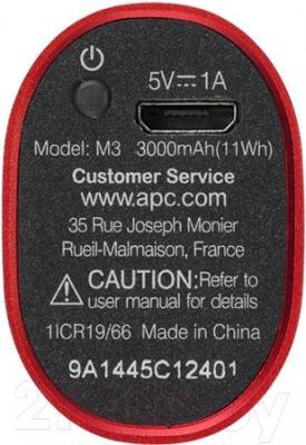 Портативное зарядное устройство APC Mobile Power Pack M3RD-EC (красный)