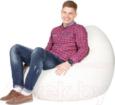 Бескаркасное кресло Meshok.by Мешок Белый (classic balls, L)