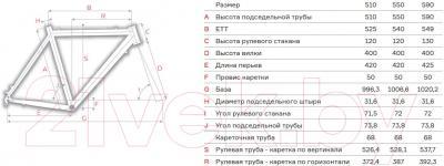 Велосипед Format 2313 (550, серый/красный матовый)