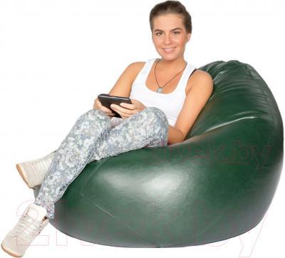 Бескаркасное кресло Meshok.by Мешок Зеленый (classic balls, M)