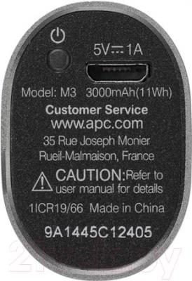 Портативное зарядное устройство APC Mobile Power Pack M3TM-EC (титановый)