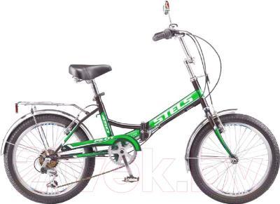 Велосипед Stels Pilot 450 2016 (черный/зеленый)