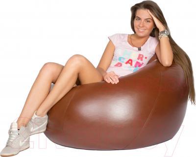 Бескаркасное кресло Meshok.by Мешок Коричневый (smart balls, XL)