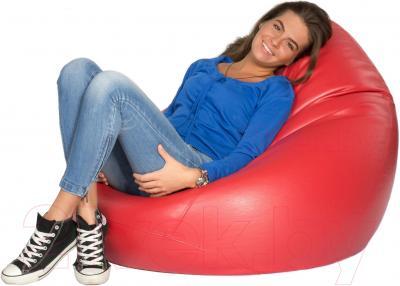 Бескаркасное кресло Meshok.by Мешок Красный глянцевый (smart balls, L)