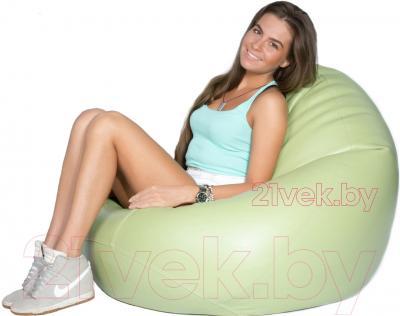 Бескаркасное кресло Meshok.by Мешок Оливковый (classic balls, L)