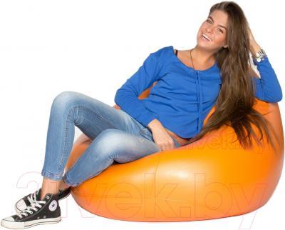 Бескаркасное кресло Meshok.by Мешок Оранжевый (classic balls, L)