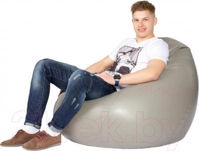 Бескаркасное кресло Meshok.by Мешок Серый (classic balls, L)