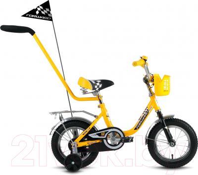 Детский велосипед с ручкой Forward Racing Boy 2016 (12, желтый)