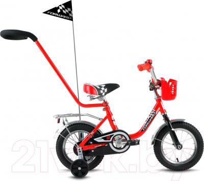 Детский велосипед с ручкой Forward Racing Boy 2016 (12, красный)