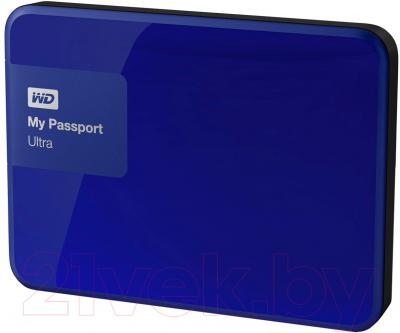 Внешний жесткий диск Western Digital My Passport Ultra 1TB Blue (WDBDDE0010BBL)