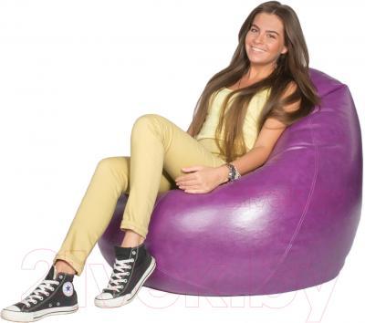 Бескаркасное кресло Meshok.by Мешок Фиолетовый (classic balls, L)