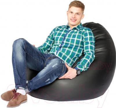 Бескаркасное кресло Meshok.by Мешок Черный матовый (smart balls, M)