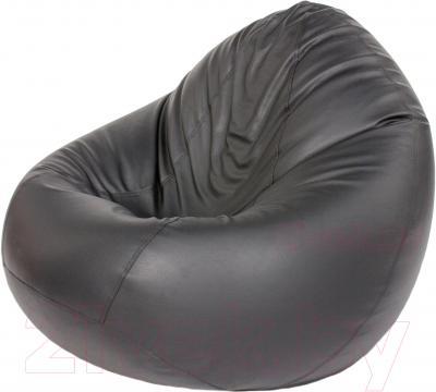 Бескаркасное кресло Meshok.by Мешок Черный матовый (smart balls, XL)