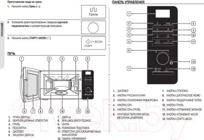 Микроволновая печь Samsung MG23F301TFR - схема