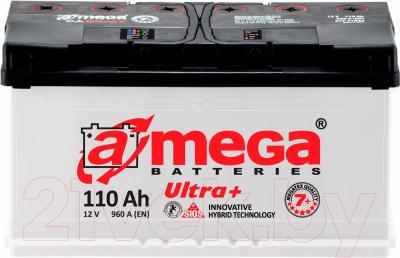 Автомобильный аккумулятор A-mega Ultra Plus 6СТ-110 R (110 А/ч)