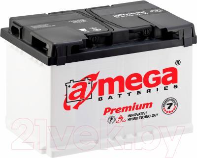 Автомобильный аккумулятор A-mega Premium 6СТ-66-А3 R (66 А/ч)