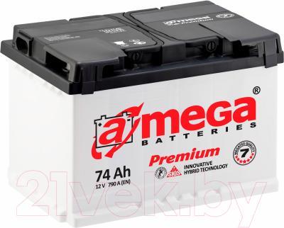Автомобильный аккумулятор A-mega Premium 6СТ-74-А3 L (74 А/ч)