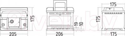 Автомобильный аккумулятор Sznajder Silver 553 25 (53 А/ч)