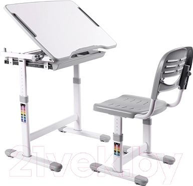 Парта+стул Sundays B201 (серый)