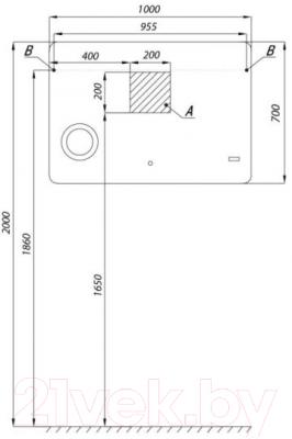 Зеркало интерьерное Акватон Элио 100 (1A194202EO010)