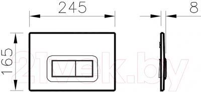 Унитаз с инсталляцией VitrA Arkitekt (9005B003-7212) - схема