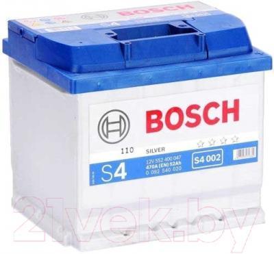 Автомобильный аккумулятор Bosch S4 002 552 400 047 / 0092S40020 (52 А/ч)